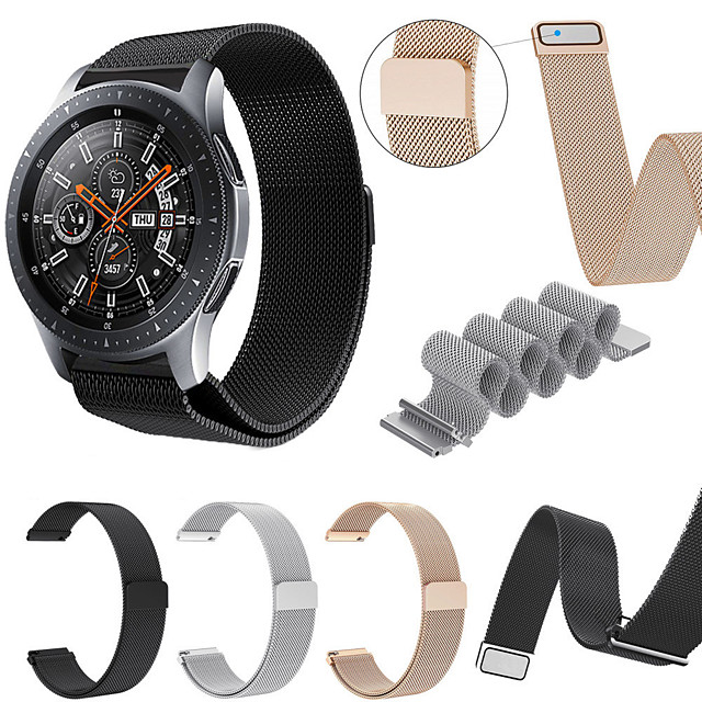 Ремешок для часов для Samsung Galaxy Watch 46 Samsung Galaxy Спортивный ремешок / Миланский ремешок Нержавеющая сталь Повязка на запястье