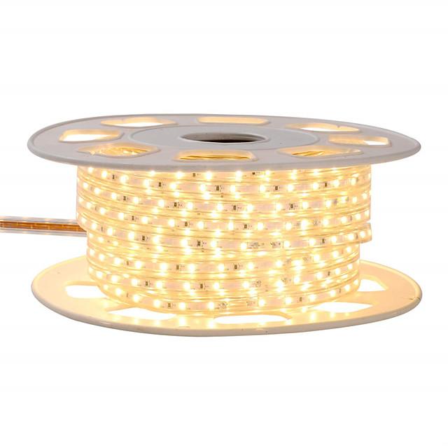 KWB 4m 유연한 LED 조명 스트립 240 LED SMD5050 10mm 1 세트 따뜻한 화이트 화이트 레드 방수 컷테이블 장식 220-240 V