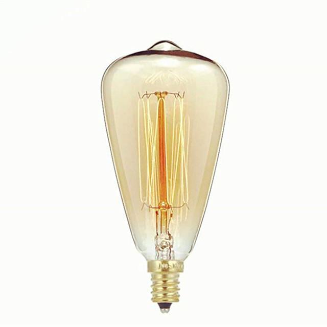 1 pc 40 W E14 ST48 Blanc Chaud 2300 k Rétro / Intensité Réglable / Décorative Ampoule à incandescence Vintage Edison 220-240 V