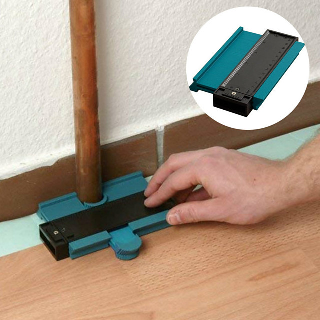 5inch kontura profil mjerač pločica laminatne pločice ruba oblikovanje drva mjera vladar ABS konture mjerač duplikator