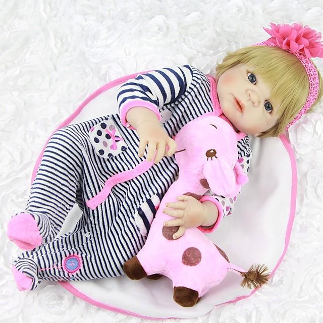 FeelWind 22 pouce Poupées Reborn Bébés Fille Enfant / Adolescent cadeaux noël enfant avec vêtements et accessoires pour les cadeaux d'anniversaire et de festival des filles / Enfants