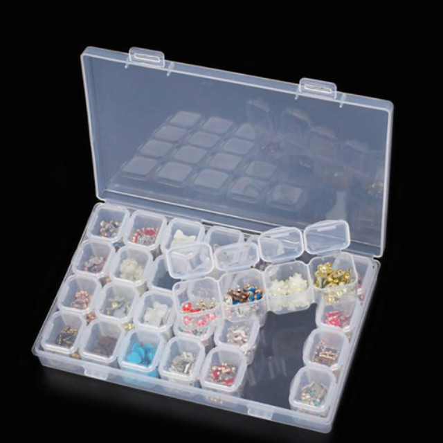 Kutija za pohranu / Kutija za tablete / Organizator nakita plastika Višefunkcijski / Izdržljivost Prozirno