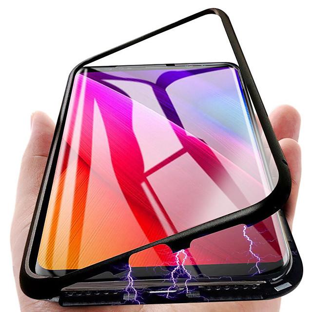 двухсторонний магнитный чехол для Samsung Galaxy Note 9 / Note 8 магнитная задняя крышка однотонный твердый металл