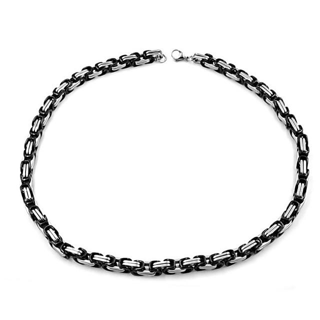 Bărbați Lănțișoare Clasic Mariner Chain XOXO Simplu Clasic Modă Teak Negru 60 cm Coliere Bijuterii 1 buc Pentru Cadou Zilnic Stradă Festival