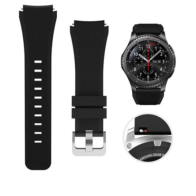 Pulseiras de Relógio para Gear S3 Frontier / Gear S3 Classic / Samsung Galaxy Watch 46 Samsung Galaxy Pulseira Esportiva / Fecho Clássico Silicone Tira de Pulso