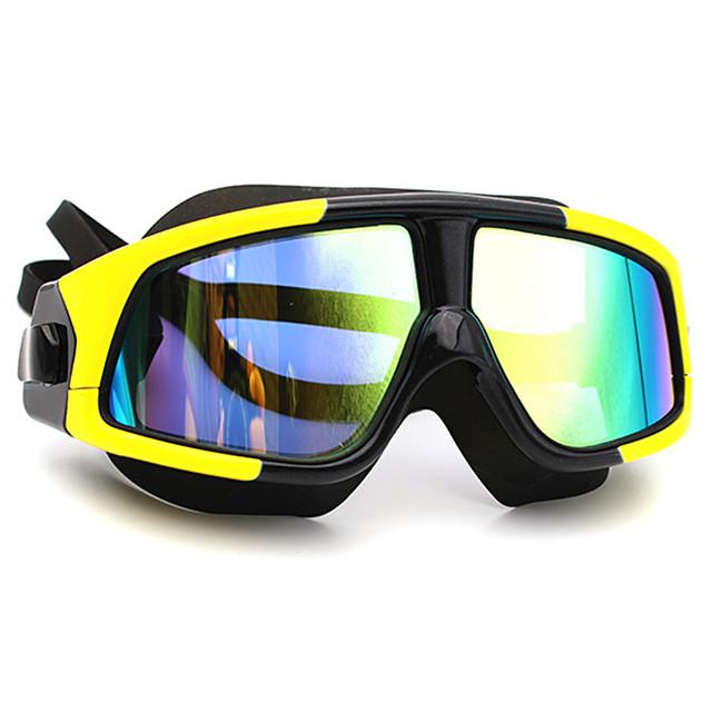 Lunettes de natation Antibrouillard Antiusure Antidérapant Protection UV Miroir Scratch Resistant Pour Adulte PC Polycarbonate N / C Noir / Plaqué