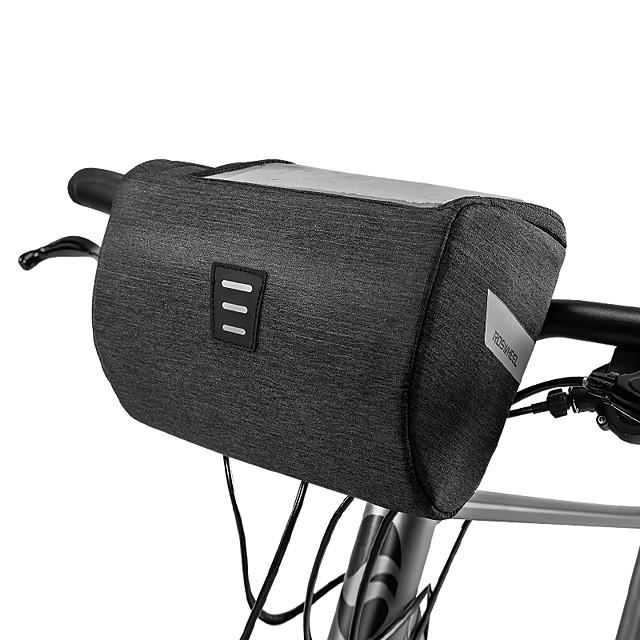 ROSWHEEL Sac de téléphone portable Sacoche de Guidon de Vélo 6.2 pouce Ecran tactile Etanche Cyclisme pour iPhone 8 Plus / 7 Plus / 6S Plus / 6 Plus iPhone X Noir Vélo de Route Vélo tout terrain