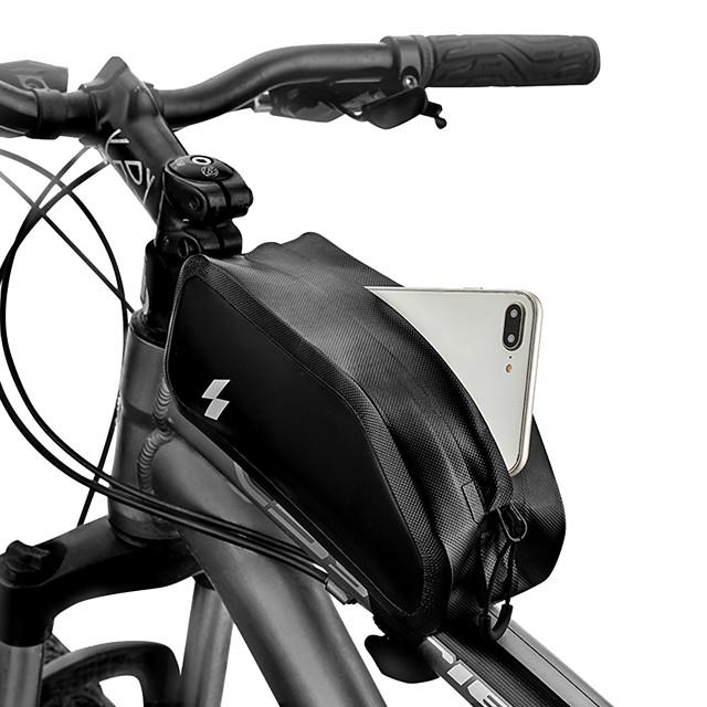 1 L Sac de téléphone portable Sac Cadre Velo Ecran tactile Etanche Durable Sac de Vélo Nylon 420D Sac de Cyclisme Sacoche de Vélo Samsung Galaxy S6 / Samsung Galaxy S6 edge / LG G3 Vélo de Route Vélo