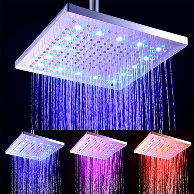 douche de pluie contemporaine électrolytique - led / design premium / douche, pomme de douche