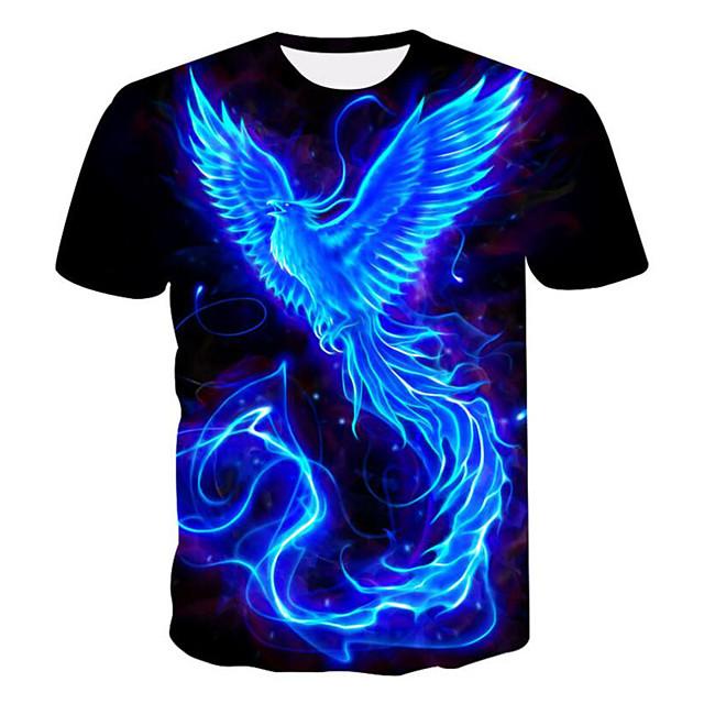 Per uomo maglietta Pop art 3D Taglie forti Con stampe Manica corta Casual Top Nero