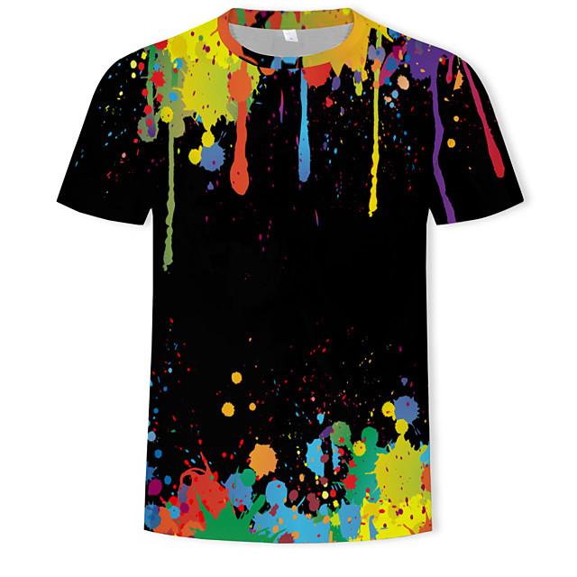 Homme T shirt Graphique 3D Imprimé Hauts Arc-en-ciel