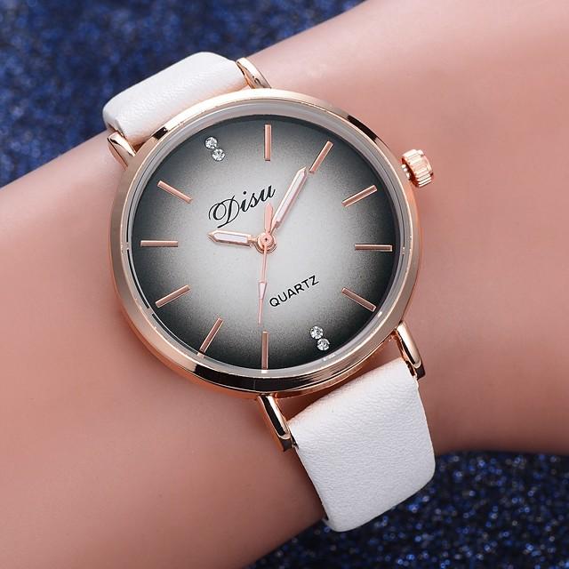 Damen Quartz Uhr Quartz Formaler Stil Modisch Armbanduhren für den Alltag Analog Weiß Schwarz Blau / Ein Jahr / Edelstahl / PU - Leder / Ein Jahr