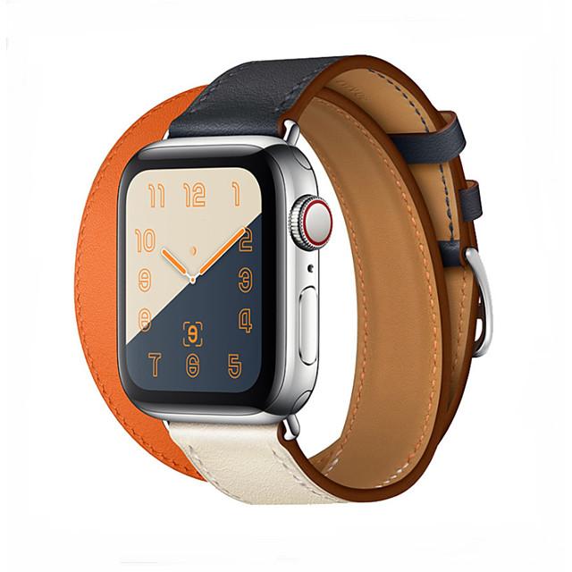 Watch kapela pro Apple Watch Series 5/4/3/2/1 Apple Sportovní značka Pravá kůže Poutko na zápěstí