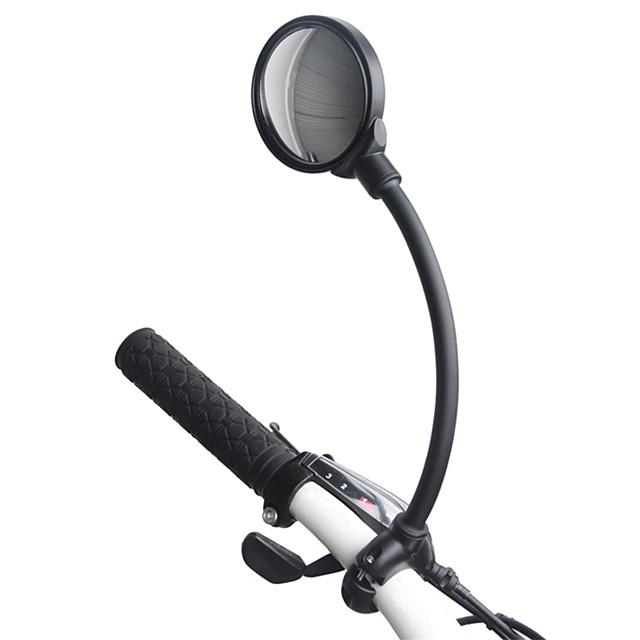 백미러 핸들러 자전거 미러 볼록 거울 조절 가능 유니버셜 유연함 싸이클링 모터 사이클 자전거 Aluminum Alloy PVC 블랙 산악 자전거 접는 자전거 레크리에이션 사이클링
