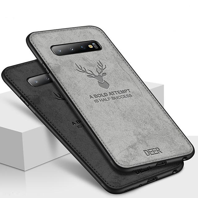전화 케이스 제품 삼성 갤럭시 뒷면 커버 Galaxy S9 S9 플러스 S8 플러스 S8 S7 edge S7 S10 S10 + Galaxy S10 E 충격방지 엠보싱 텍스쳐 패턴 카툰 3D카툰 캐릭터 동물 소프트 TPU 옥스퍼드 섬유