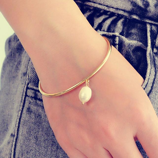 Bracelet Pendentif Femme Poire Imitation de perle Poire Elégant Artistique Doux Mode Bracelet Bijoux Dorée pour Cadeau Fête scolaire Festival