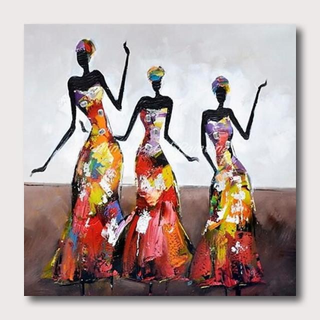 Peinture à l'huile Hang-peint Peint à la main Carré Abstrait Pop Art Contemporain Moderne Inclure cadre intérieur
