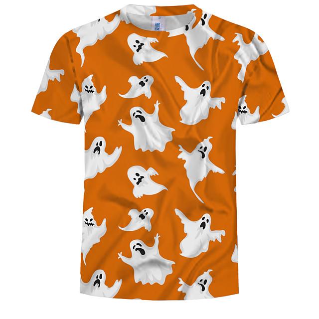Homme T shirt Graphique 3D Grandes Tailles Imprimé Hauts Coton Orange