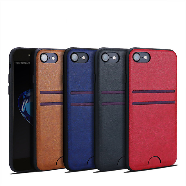 Funda Para Apple iPhone XS / iPhone XR / iPhone XS Max Soporte de Coche Funda Trasera Un Color Dura Cuero de PU