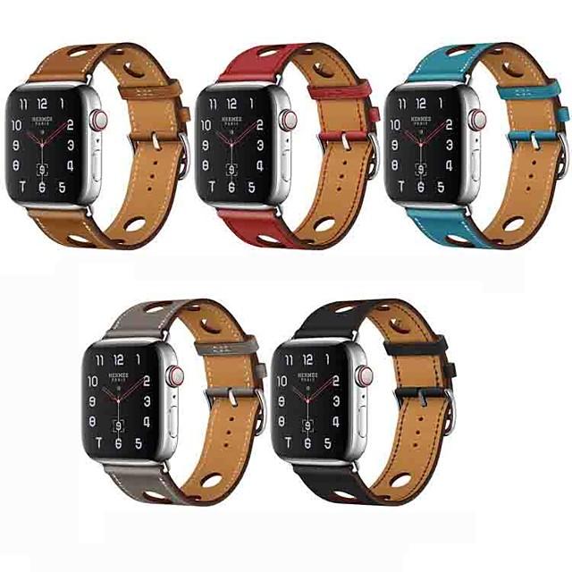 Klockarmband för Apple Watch Series 4/3/2/1 Apple Klassiskt spänne Äkta Läder Handledsrem