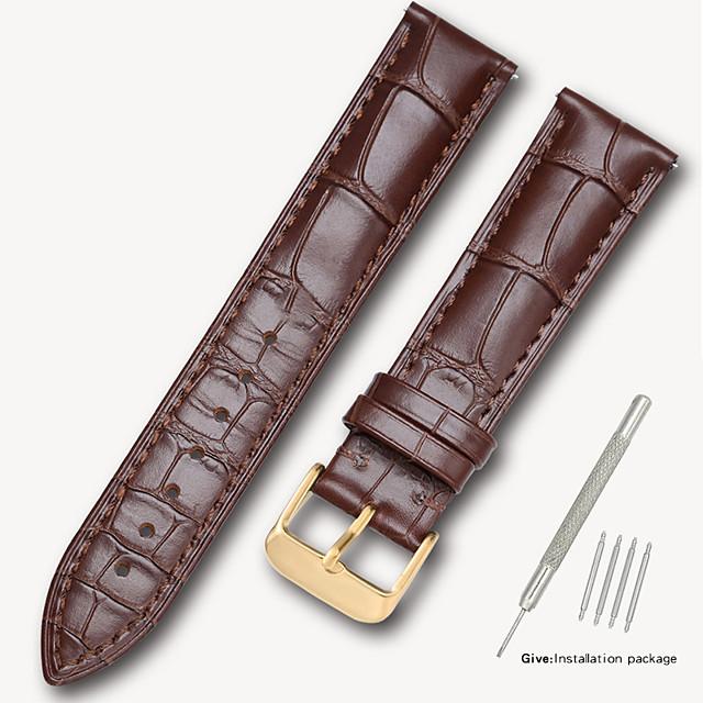 filiale tissot 1853 montre leroy avec bracelet en cuir pour homme boucle papillon femelle bibliothèque carte accessoires d'origine 14/16/18/19 / 20mm