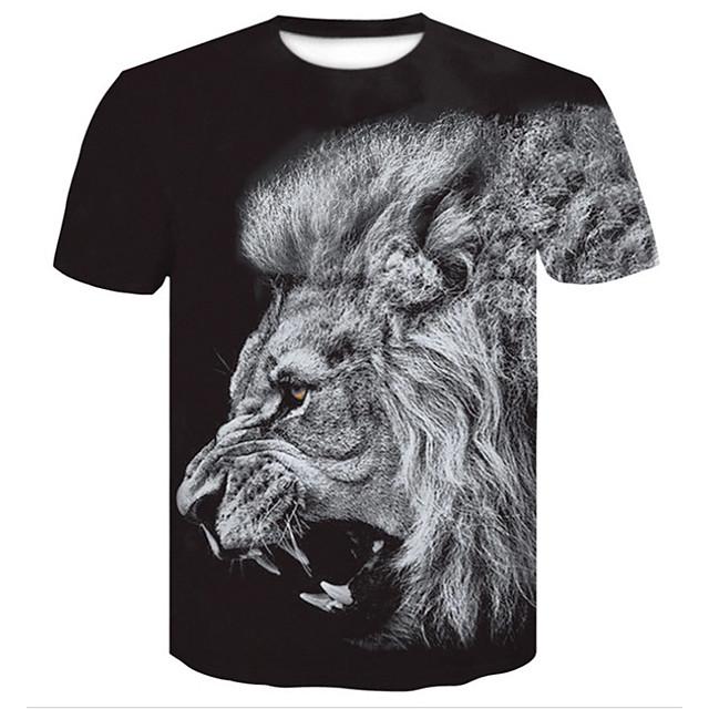 Homme T shirt 3D Grandes Tailles Imprimé Hauts Noir