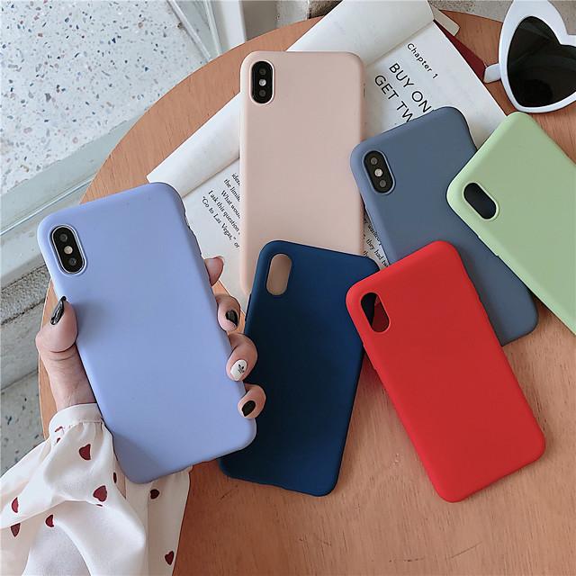 coque cas pour apple iphone xr / iphone xs max givré couverture arrière solide tpu doux coloré pour iphone 6 6 plus 6s 6s plus 7 8 7 plus 8 plus x xs