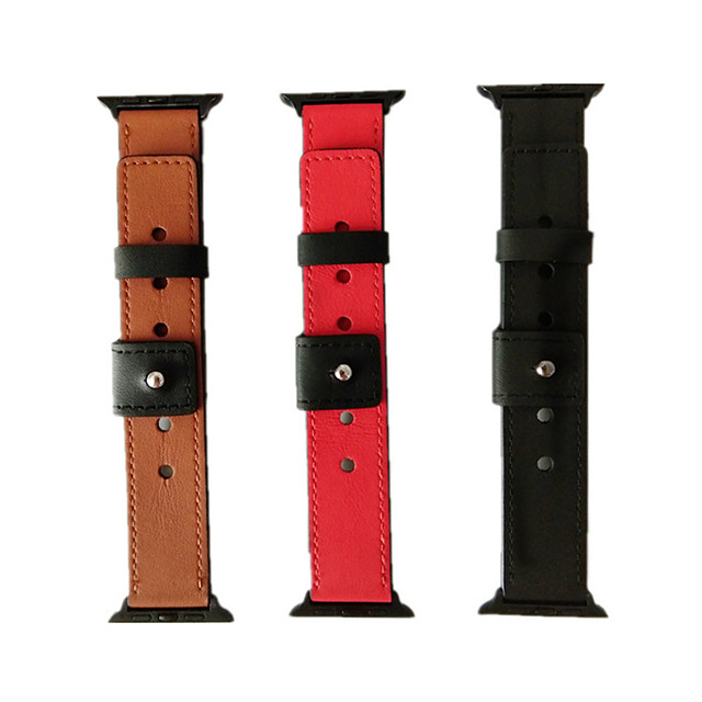 Watch Band for Apple Watch Series 4/3/2/1 Apple Sport Band Genuine Leather Wrist Strap