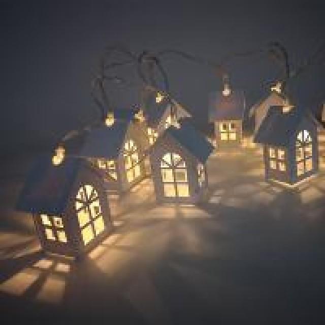 2m Guirlandes Lumineuses 10 LED Blanc Chaud 3 V