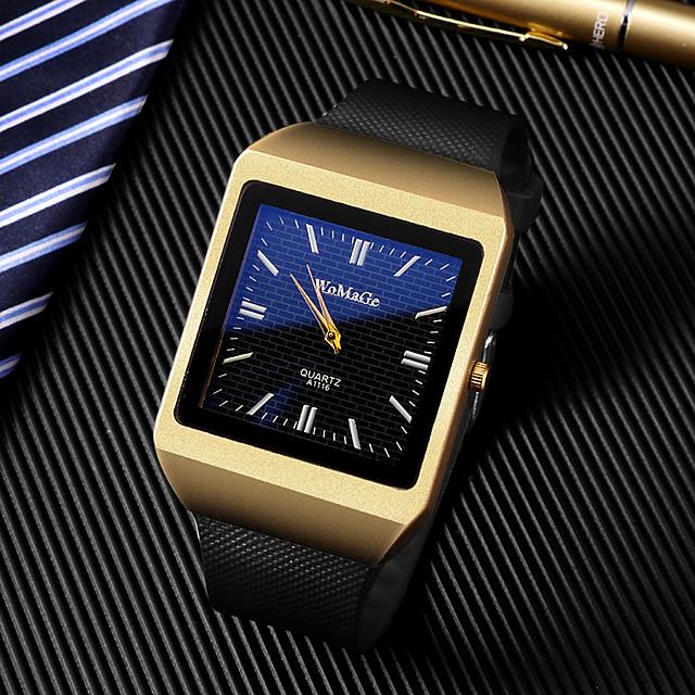 رجالي ساعة فستان كوارتز ترف ساعة كاجوال مماثل ذهبي + أسود ذهبي + أبيض ذهبي / سنة واحدة / مطاط / طرد كبير