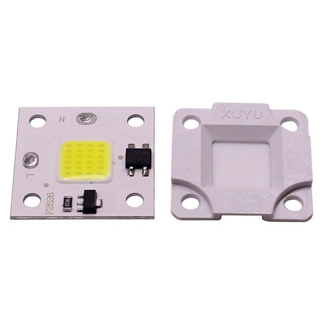 1 шт. 10 Вт мини-поделки бесплатный диск smd умный ic светодиодный флип чип переменного тока 220 В белый теплый белый для поделки светодиодный прожектор