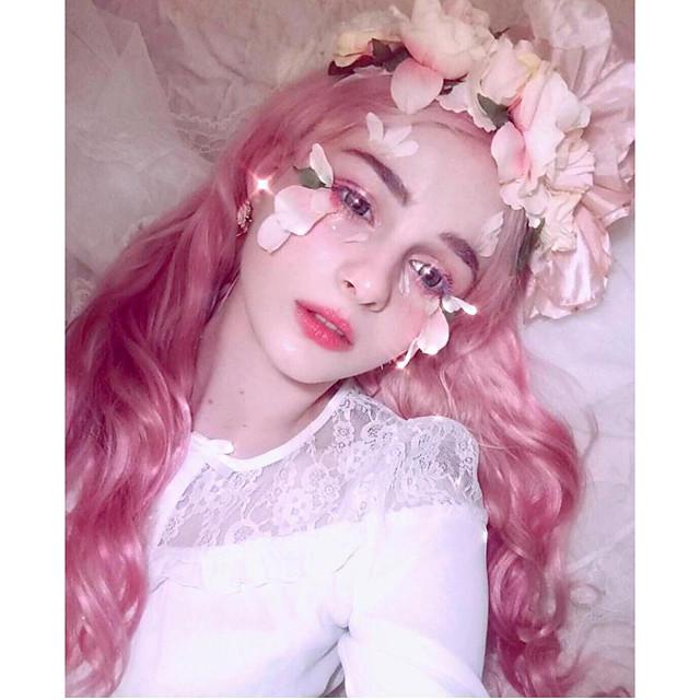 Perruque Synthétique Ondulation naturelle Partie libre Perruque A Ombre Long Rose + Rouge Cheveux Synthétiques 24inch Femme Cosplay Doux Danse A Ombre / Résistant à la chaleur