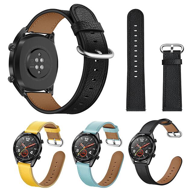 Klokkerem til Huawei Watch GT / huawei hedre Magic / Huawei Watch GT 2 Huawei Lærrem Ekte lær Håndleddsrem