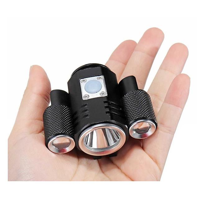LED Luci bici Luce frontale per bici Fanale anteriore LED Ciclismo da montagna Bicicletta Ciclismo Impermeabile Super luminoso Sicurezza Portatile Batteria ricaricabile Solare Batteria al litio 1800