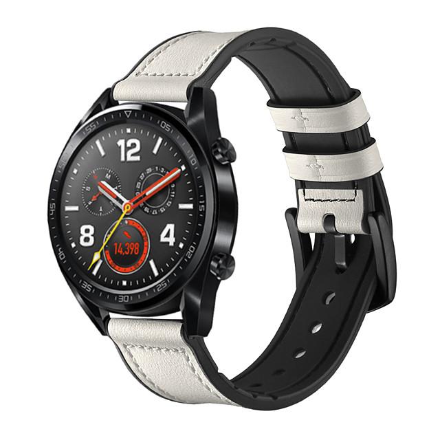 Ремешок для часов для Huawei Watch GT Huawei Современная застежка силиконовый / Натуральная кожа Повязка на запястье