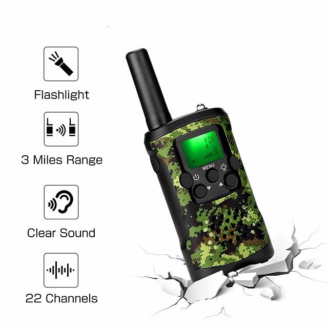 48 462 Talkie walkie Portable Lampe LED Gloss translucide Audio bidirectionnel Radio bidirectionnelle 5 - 10 km 5 - 10 km 22 0.5 W / 400 - 470 MHz / Talkie-Walkie / Jeux / Pour Enfants / Appel Vidéo