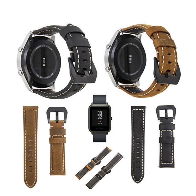Klokkerem til Huami Amazfit Bip Younth Watch Xiaomi Sportsrem Ekte lær Håndleddsrem