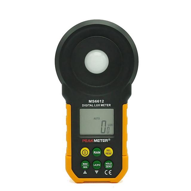 hhtl-peakmetru ms6612 digital metru multifuncțional multifuncțional portabil pentru măsurarea iluminării ușoare