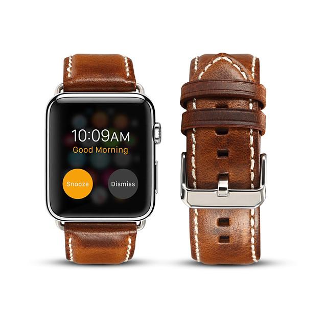Watch Band için Apple Watch Serisi 5/4/3/2/1 Apple Klasik Toka Gerçek Deri Bilek Askısı