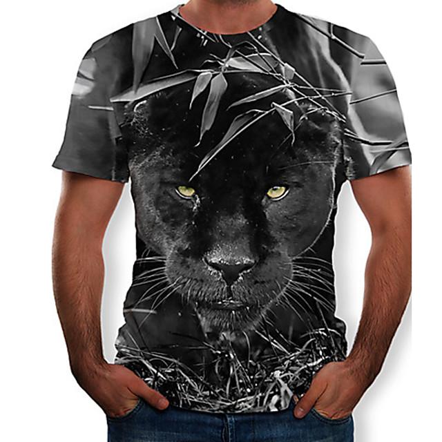 Homme T-shirt Graphique 3D Animal Hauts Noir