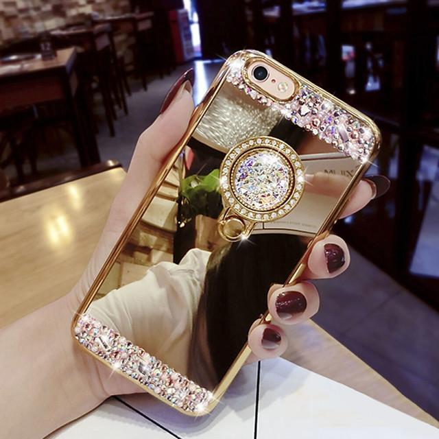 전화 케이스 제품 삼성 갤럭시 뒷면 커버 Galaxy S9 S9 플러스 S8 플러스 S8 S8 에지 S10 S10 + Galaxy S10 E 크리스탈 스탠드 글리터 샤인 하드 아크릴
