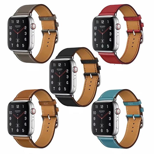 Ремешок для часов для Серия Apple Watch 5/4/3/2/1 Apple Классическая застежка Натуральная кожа Повязка на запястье