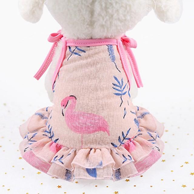 كلاب قطط الفساتين ملابس السهرة للرجال ملابس الجرو حيوان الأزهار النباتية نجوم موضة لطيف ملابس الكلاب ملابس الجرو ملابس الكلب أرجواني زهري كوستيوم للفتاة والفتى الكلب شبكة XS S M L XL XXL