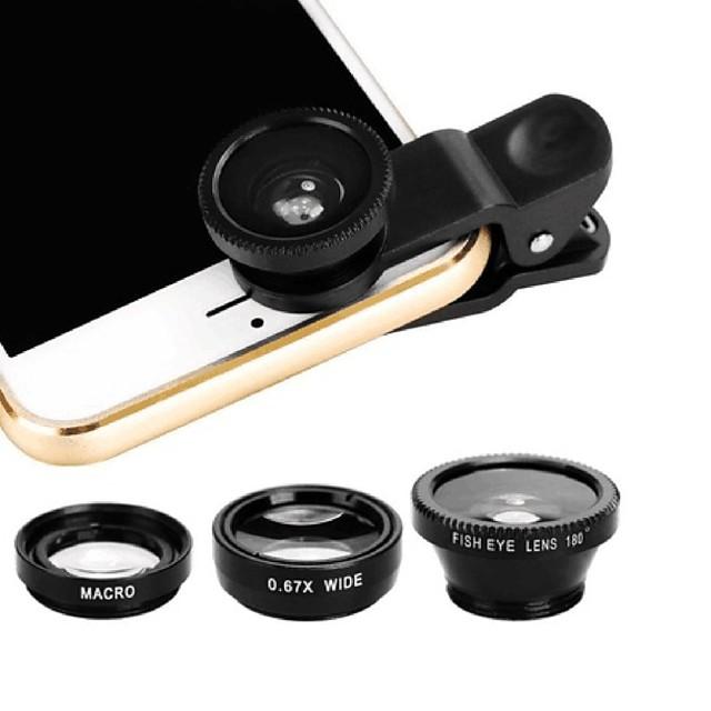 Lentille de téléphone portable Lentille de fisheye ABS + PC 25 mm 180 ° Lentille avec Coque / Frais