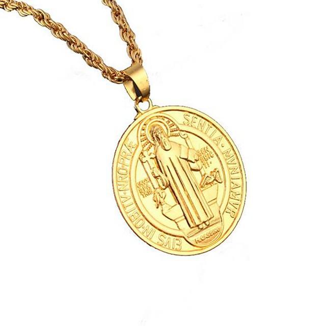 رجالي قلائد الحلي إيمان أوروبي هيب هوب كروم ذهبي 80 cm قلادة مجوهرات 1PC من أجل مناسب للبس اليومي
