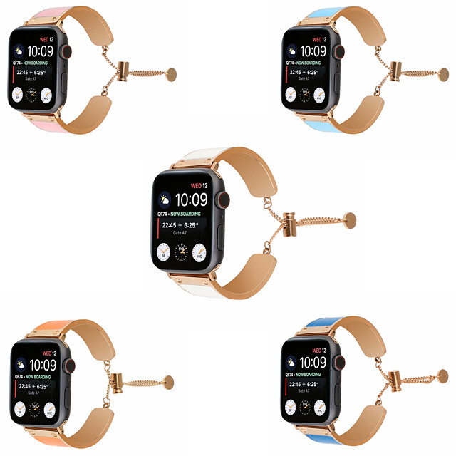 Klokkerem til Apple Watch Series 5/4/3/2/1 Apple Smykkedesign Rustfritt stål Håndleddsrem