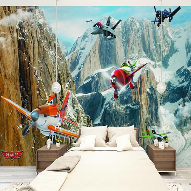 avion de bande dessinée adapté à la télévision fond mur papier peint peintures murales salon café restaurant chambre bureau xxxl (448 * 280cm