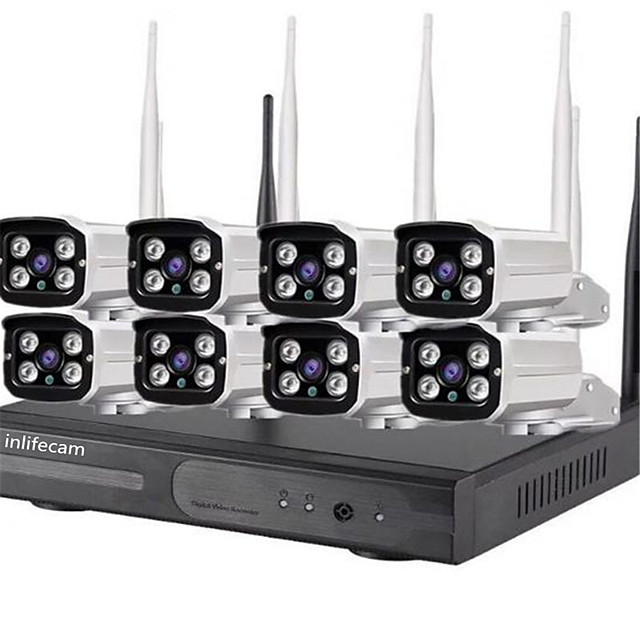 8ch 720p trade assurance 8channel wifi camera 720p cctv wireless nvr kit per cctv kit 8 telecamere