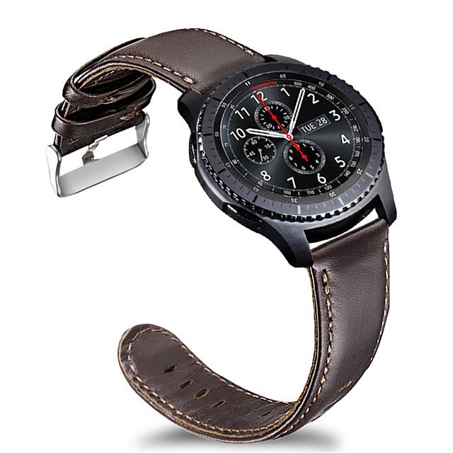 Watch kapela pro Gear S3 Frontier / Gear S3 Classic / Samsung Galaxy Watch 46 Samsung Galaxy Sportovní značka Nerez / Kůže Poutko na zápěstí