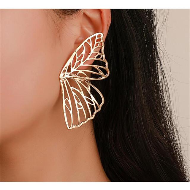 Femme Boucles d'Oreille Classique Papillon Elégant Des boucles d'oreilles Bijoux Dorée / Argent Pour Quotidien Vacances 1 paire